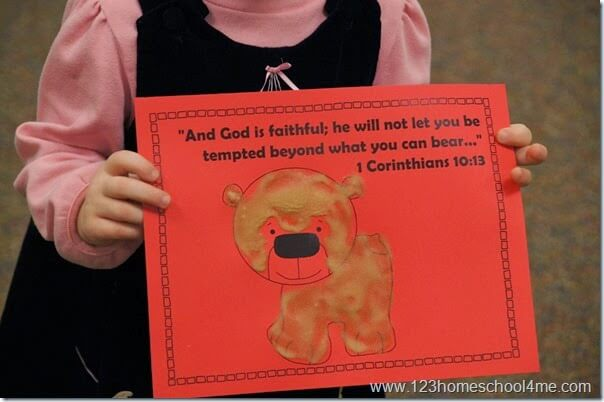 1 Corinthinans 10 13 Bible Craft for Kids about temptation