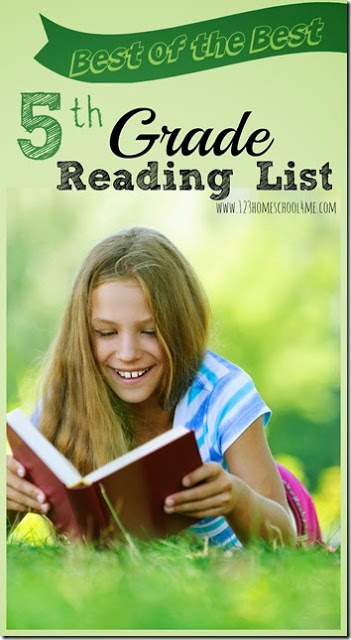 FREE 5th Grade Reading List - so many GREAT books in a convenient free printable 5th grade book recommendations. Perfect for reading the best books for summer reading, homeschool, classrooms, and more. #5thgrade #booklist #readinglists