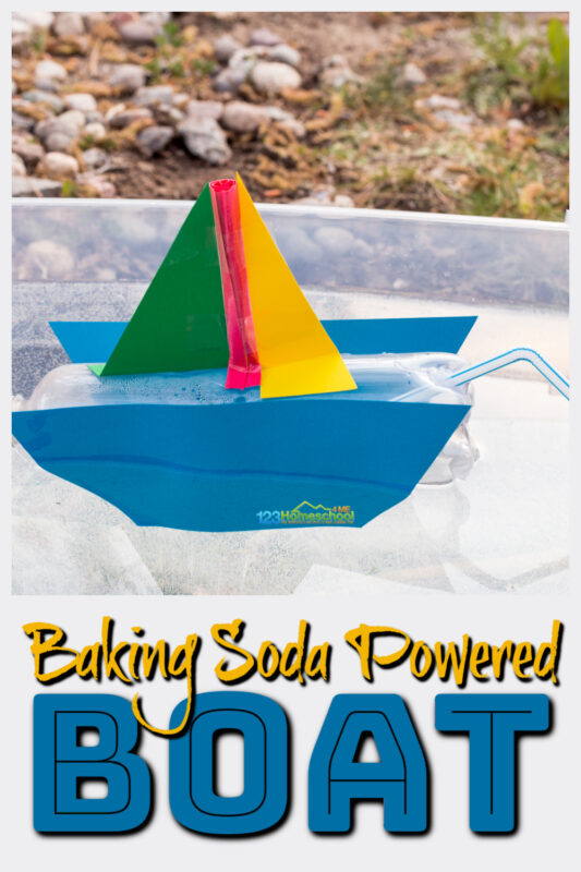 No need to row your boat when you make abaking soda powered boat with this EPICsummer science experiment.This simplebaking soda and vinegar experimenthas children create a boat that will move when thebaking soda vinegar chemical reaction takes place. Try thisbaking soda and vinegar powered boat with preschool, pre-k, kindergarten, first grade, 2nd grade, 3rd grda,e 4th grade, 5th garde, and 6th grade students. You seriously have to try baking soda experiments!