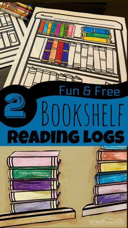 Children books to read with free printable bookshelf reading log