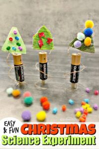 Kids are going to flip when they make they make their own spinning Christmas tree science project. This easy electronics project is perfect for December because it combines a Christmas craft and a Christmas science experiment to make one EPIC Christmas STEM project for kinderarten, first grade, 2nd grade, 3rd grade, 4th grade, 5th grade, 6th grade, 7th grade, and 8th grade students. This festive, holiday Christmas activity for kids is a must try this year!