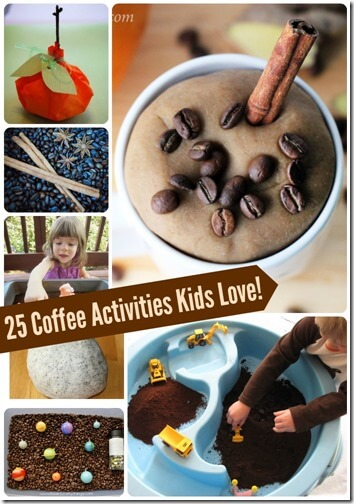 25 Coffee Activities for Kids - So many fun activities for kids to enjoy aromatic coffee!