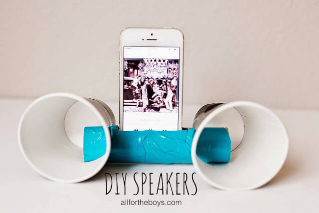 Check out what your kids can make ---> DIY Speakers. Great project to help kids with critical thinking skills using STEM!