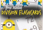 We will do just about anything to make math fun at our house. Kids need lots of practice with math facts to improve fluency they will need for all future math! These division flashcards have a super cute despicable me, minion theme to help make division practice FUN! Usedivision flash cards printable with 3rd grade, 4th grade, 5th grade, and 6th grade students. Simply download pdf file withprintable math flash cards and you are ready to use these in a variety ofdivision activities.