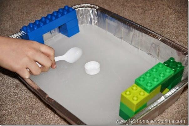 Frozen Water Ice Hokey Ring Kids Activity