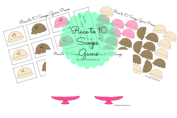 picture relating to Printable Ice Cream Scoops titled Totally free Printable Ice Product Scoops Math Sport 123 Homeschool 4 Me