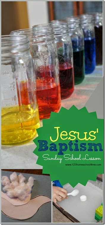 Kids will love this hands on biblelesson for kids about Jesus' Baptism. We used all these water activities for kids and a cuteJesus baptism craft in our Sunday School lesson, but theseJesus' baptism for kids activities are suited for parents, teachers, and homeschoolers to use at home too. These ideas to teach Jesus' baptism story areperfect for toddler, preschool, pre-k, kindergarten, first grade, and 2nd graders too.