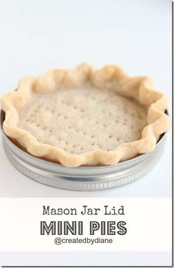 Mini Pie Recipe - This is SO clever! Now you can make mini, individual pies without buying any special pans.