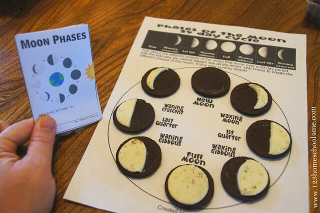 phases of the moon oreo worksheet
