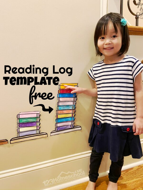 free Reading Log Template for family reading programs and classroom reading competitions