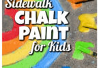 Looking for thebest sidewalk chalk paint recipe? We think thissidewalk chalk is perfet because it is super quick, only uses 2-ingredients, and makes such bold, vibrant colors for kids to color with. Use thisdiy sidewalk chalk paintwith toddler, preschool, pre-k, kindergarten, first grade, 2nd grade, and 3rd graders to let their imaginations SOAR! Let them use thehomeamade chalk to create dragons, butterlies, flowers, trees, aliens, and more. Creating and usinghomemade sidewalk chalk paingit such a fun, simple, and classicsummer activity for kidsof all ages!