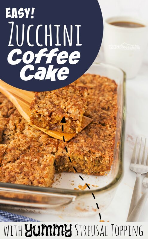 Whether you have a bumper crop of zucchini in your vegetable garden, or just enjoy this yummy summer treat, you are going to love this delicious zucchini coffee cake recipe. It is such an easyzucchini recipe for a quick and healthy summer breakfast!