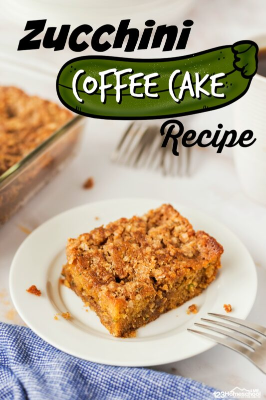 Zucchini Coffee Cake Recipe - EASY Zucchini Coffee Cake Recipe - This is absolutely the BEST zucchini recipe I've found!!! This zucchini cake recipe is perfect for breakfast, dessert, or taking to a potluck. #recipes #yummy #zucchini