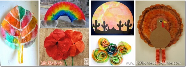 coffee filter crafts for kids 2