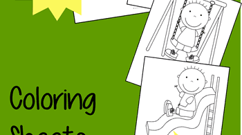 Playground Coloring Sheets for Kids