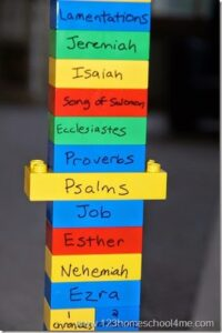 Learn the Books of the Bible with Lego