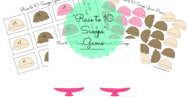 Printable Ice Cream Scoops Math Game