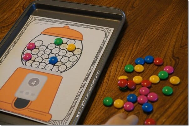 gumball math is a great way for kindergarten and first graders to practice addition and subtraction