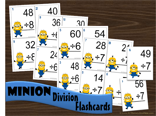 photo regarding Minion Symbol Printable named Minion Department Math Flashcards 123 Homeschool 4 Me
