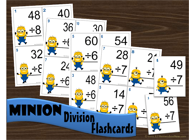 Minion Division Flashcards