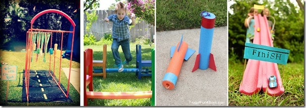 pool noodle outdoor activities for kids