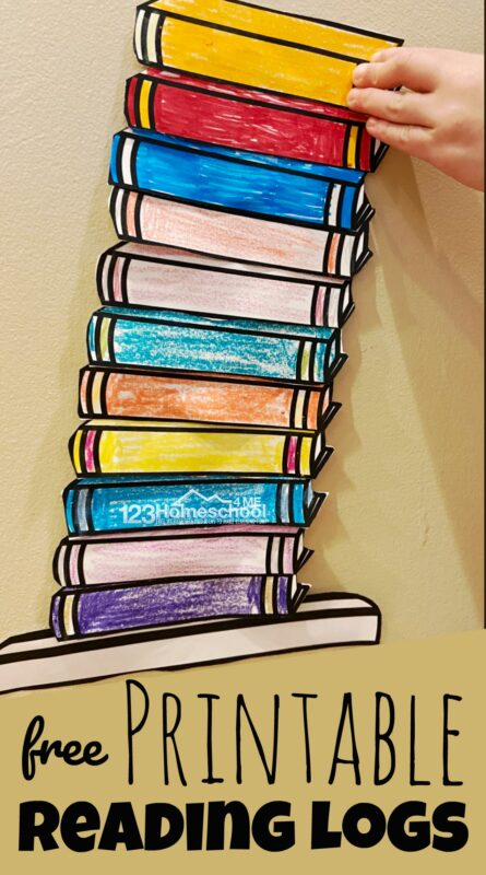 FREE Printable Reading Logs - 2 different styles of bookcase style booklog to track books read in reading program or competition with pre k, kindergarten, grade 1, grade 2, grade 3, grade 4, grade 5, grade 6, grade 7, and grade 6 for summer reading.