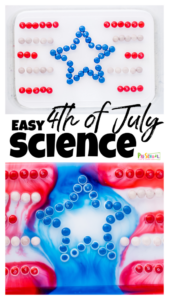 red white and blue science experiment