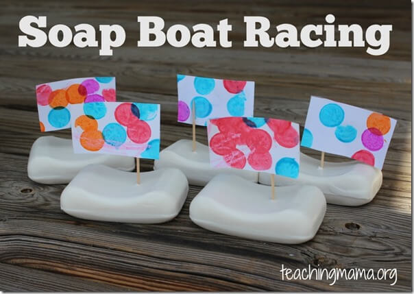 Soap Boats - Kids are going to love this inexpensive, simple-to-set-up summer activity for kids of all ages!