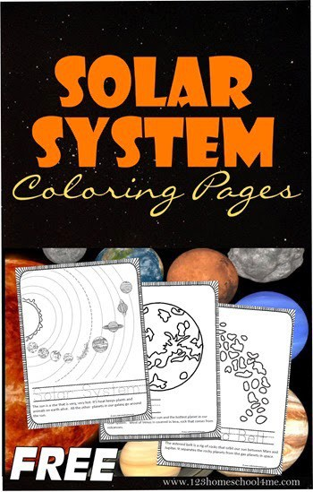 FREE Solar System Coloring Pages - Kids will love learning about the solar system with these coloring sheets for kids. These free science printables are great for activities, lessons for preschool, kindergarten, first grade, 2nd grade, 3rd grade, 4th grade, 5th grade #solarsystem #solarsystemforkids #coloringpages