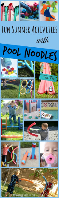 30 FUN Pool Noodle Activities - so many clever, unique kids activities for spring, summer, and fall; great for backyard fun, summer parties, and play ideas for kids of all ages from toddler, preschool to kindergarten, first grade #poolnoodles #kidsactivities #summerbucketlist