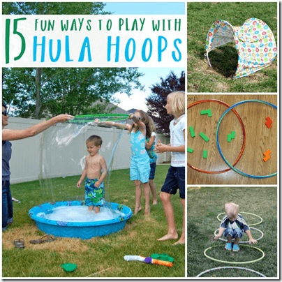 15 Hula Hoop Activities for Kids - such fun, creative summer activities for kids of all ages.