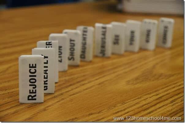 Bible Verse Domino Memory Game