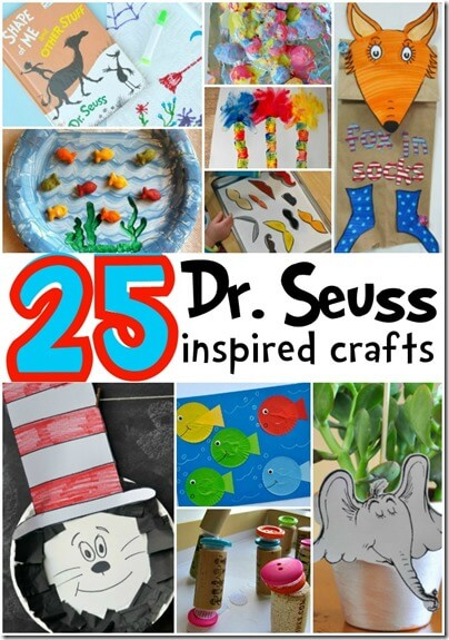 25 Dr. Seuss Crafts for Kids - Perfect for Dr. Seuss Day, back to school theme, preschool book unit, alphabet or phonics fun and more for toddler, preschool, and kindergarten