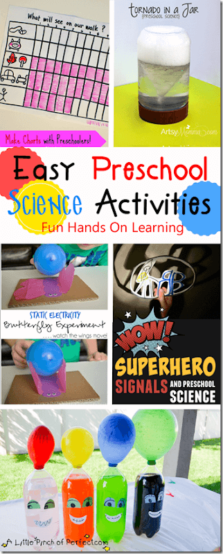 Easy Preschool Science Experiments - great ideas for toddler, preschool and kindergarten age kids to explore Science!