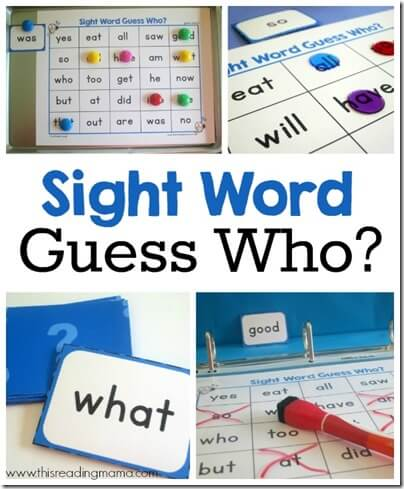 FREE Guess Who Sight Words Game - This is such a fun, free printable game to help preschool, kindergarten, and 1st grade kid learn key sight words.
