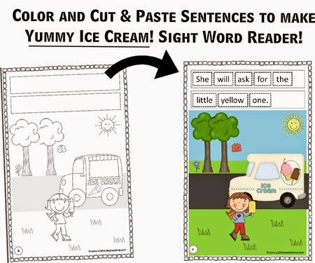 Ice Cream Sight Word Reader Sample