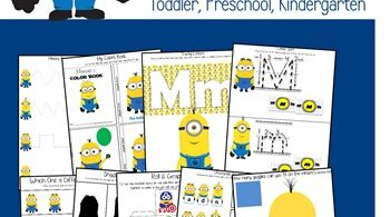 Minion Themed Worksheets