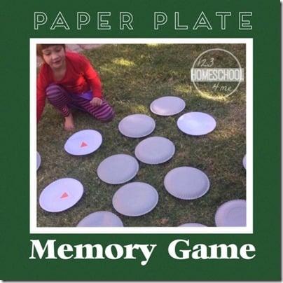 Paper Plate Memorry Game for Toddler Preschool Kindergarten