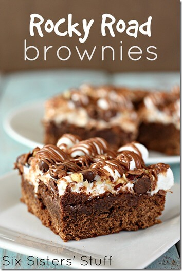 Rocky Road Brownie Recipe - Yummy! This dessert recipe looks like the perfect summer treat.