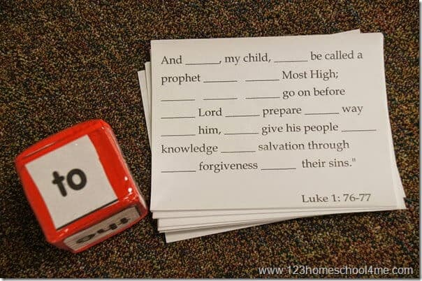 Roll it Bible Verse Game