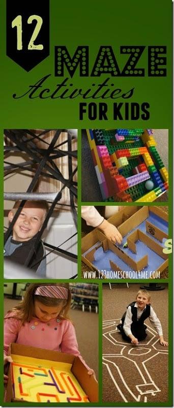 STEM - 12 Maze Activities for Kids