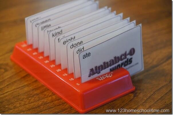 Sight Words Game for kids that helps kids practice alphabetizing words at the same time
