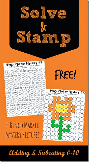 FREE! Solve and Stamp Math Worksheets are such a fun way for kids to practice adding and subtracting. Great for Kindergarten, 1st grade, 2nd grade, 3rd grade, and 4th grade homeschool students. #mathworksheets #addition #subtraction