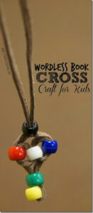 Wordless Book Craft for kids making simple bead cross craft