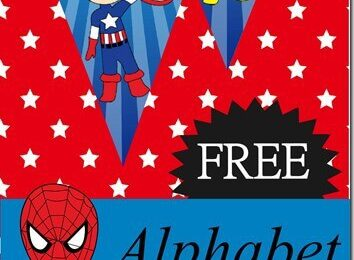 Super Hero Alphabet Pennants