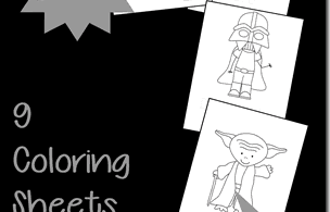 FREE Star Wars Kid Coloring Sheets