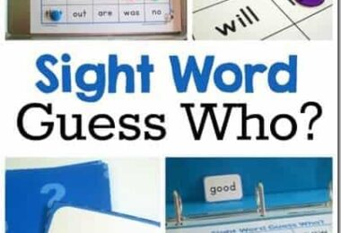 Guess Who? Sight Words Game