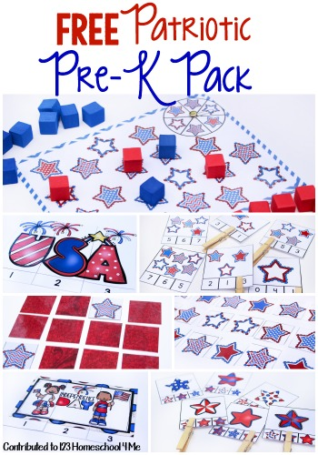 FREE Patriotic Preschool Worksheets - preschoolers will have fun practicing a variety of early learning skills with this prek pack #preschool #memorialday #fourthofjuly