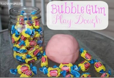 Bubble Gum Playdough Recipe