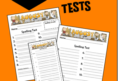 FREE August Spelling Test